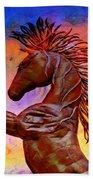 Iron Horse Hand Towel