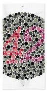 Ishihara Color Blindness Test Bath Towel