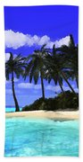 Island With Palm Trees Bath Towel