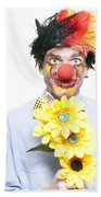 Isolated Clown In A Funny Summer Romance Bath Towel
