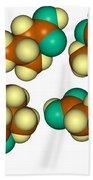 Isovaleric Acid Molecular Models Bath Towel