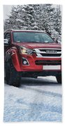 Isuzu In The Snow Bath Towel