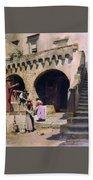 Italian Courtyard Henryk Semiradsky Bath Towel
