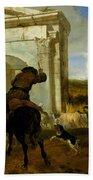 Italian Landscape With Horsemen By A Spring Bath Towel