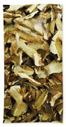 Italian Market Dried Mushrooms Bath Towel