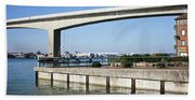 Itchen Bridge Southampton Bath Towel