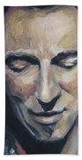 It's Boss Time II - Bruce Springsteen Portrait Bath Towel
