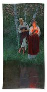 Ivan Kupala. Fortunetelling For Wreaths. Hand Towel