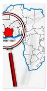 Ivory Coast Under A Magnifying Glass Bath Towel