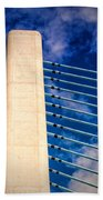 Ivory Tower At Indian River Inlet Bath Towel