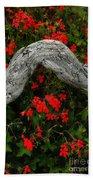 Ivy Geraniums And Log Bath Towel
