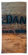 Jack Daniels Oak Barrel Bath Towel