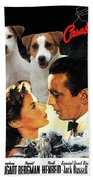 Jack Russell Terrier Art Canvas Print - Casablanca Movie Poster Bath Towel