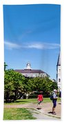 Jackson Square Panorama Bath Towel by Chris Coffee