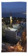 Jaffa At Night Aerial View Bath Towel