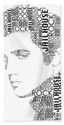 Jailhouse Rock Elvis Wordart Bath Towel