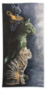 Jake And The Ancestors-pet Portrait Bath Towel