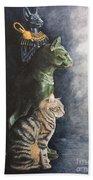 Jake And The Ancestors-pet Portrait Bath Towel