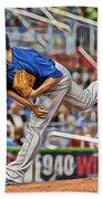 Jake Arrieta Chicago Cubs Pitcher Bath Towel