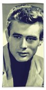 James Dean Publicity Shot Bath Towel by Joy McKenzie
