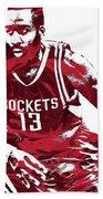 James Harden Houston Rockets Pixel Art 3 Bath Towel