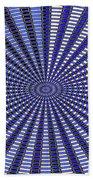 Janca Blue Oval Abstract 9646w11 Bath Towel