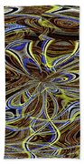 Janca Oval Abstract 4917 W3a Bath Towel