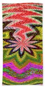 Janca Pink Color Panel Abstract #5212 Wtw6 Bath Towel