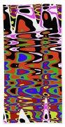 Jancart Drawing Abstract #8455pcws Bath Towel