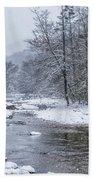 January Snow On The River Bath Towel