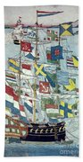 Japan: Dutch Ship Bath Towel