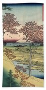 Japan: Maple Trees, 1858 Bath Towel