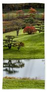 Japanese Garden Autumn Bath Towel