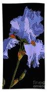 Japanese Iris-blue Beauty Bath Towel