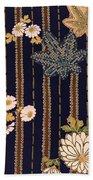 Japanese Maple And Chrysanthemum Modern Interior Art Painting. Bath Towel