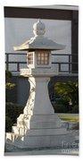 Japanese Stone Pagoda Bath Towel