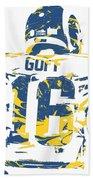 Jared Goff Los Angeles Rams Pixel Art 2 Bath Towel