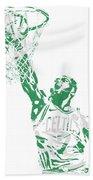 Jaylen Brown Boston Celtics Pixel Art 12 Bath Towel