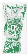 Jayson Tatum Boston Celtics Pixel Art 12 Bath Towel