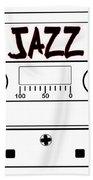 Jazz Music Tape Cassette Bath Towel