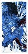 Jd And Leo- Inverted Ice Blue Bath Towel