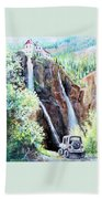 Jeeping At Bridal Falls  Bath Towel