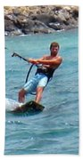 Jeff Kite Surfer Bath Towel