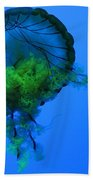 Jellyfish In Green Hand Towel