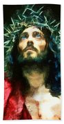 Jesus Of Nazareth Bath Towel