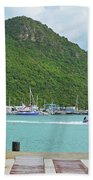 Jet Ski On The Lagoon Caribbean St Martin Bath Towel
