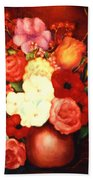 Jewel Flowers Bath Towel