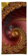 Jewel Gold  Fractal Spiral  Bath Towel
