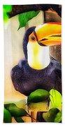 Jewel Of The Amazon Toco Toucan  Bath Towel