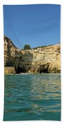 Jewel Toned Ocean Art - Gliding By Sea Caves And Secluded Beaches Bath Towel